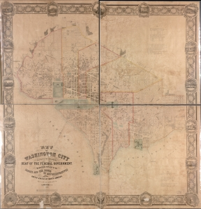 Map of Washington City 1857