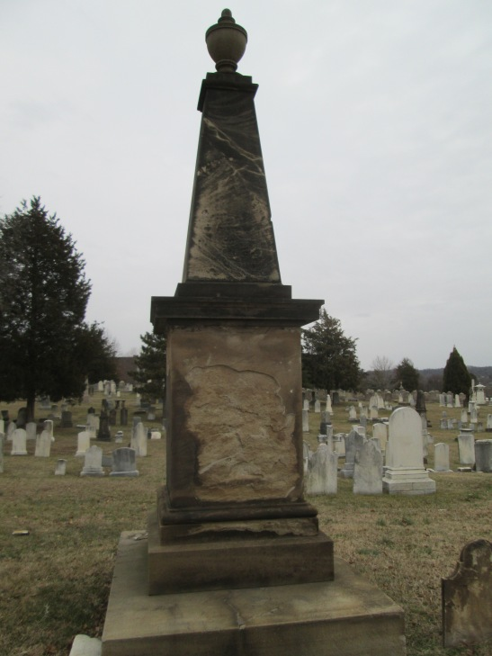 Samuel Smallwood memorial in Congressional Cemetery (Feb 2014)