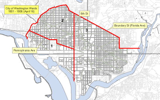 City of Washington wards 1801-1806