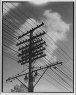 Overhead electric power lines on Georgia Ave. NW, ca. 1940.